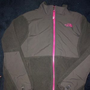 Girl's Northface Grey/PInk
